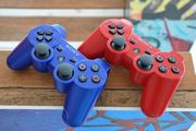 Blue and Red PS3 Controllers