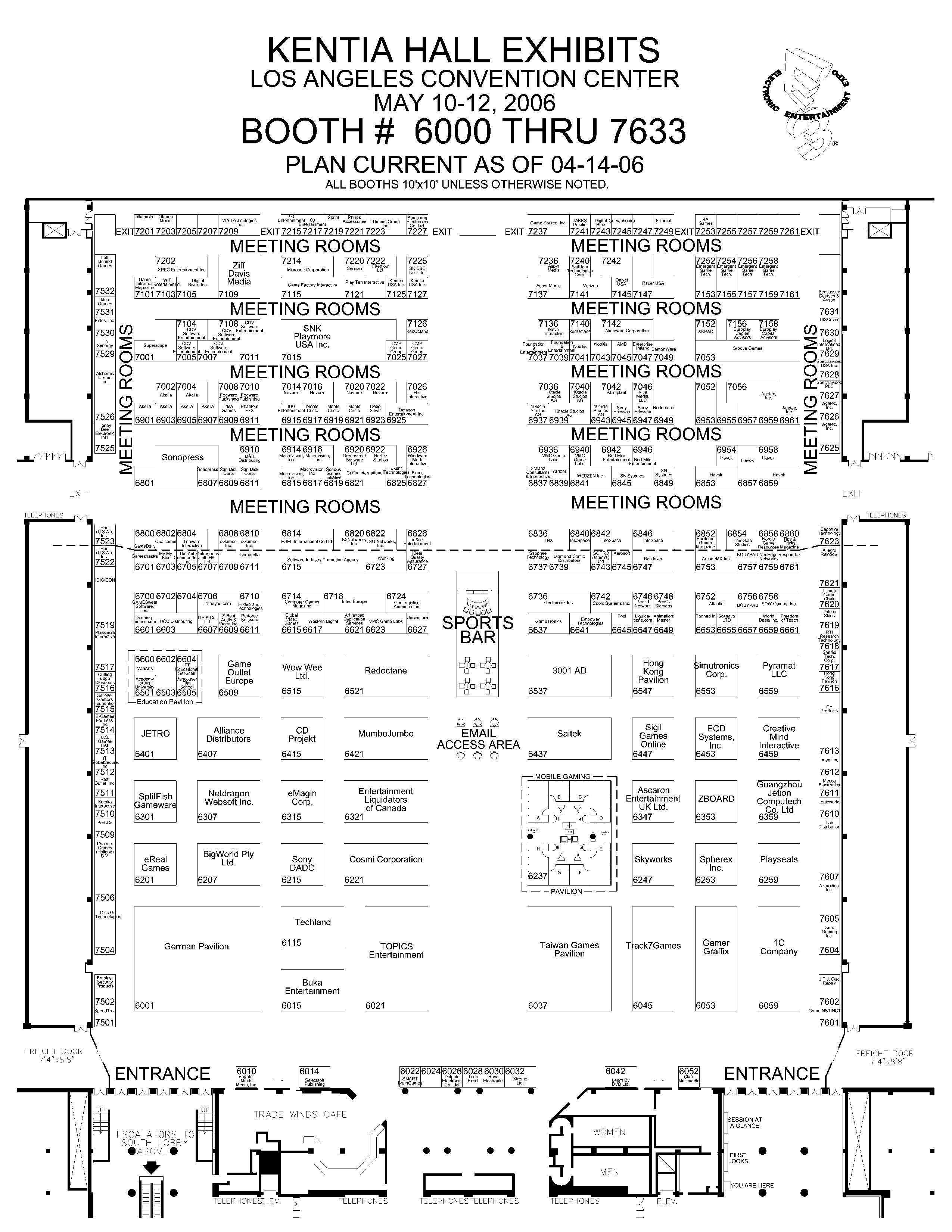 E3 2006: Show Floor Layout - 52706