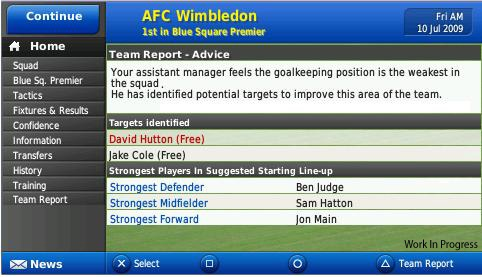 Football Manager Handheld 2010 - 11698