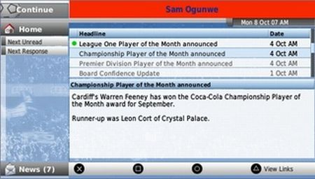 Football Manager Handheld 2008 - 10267