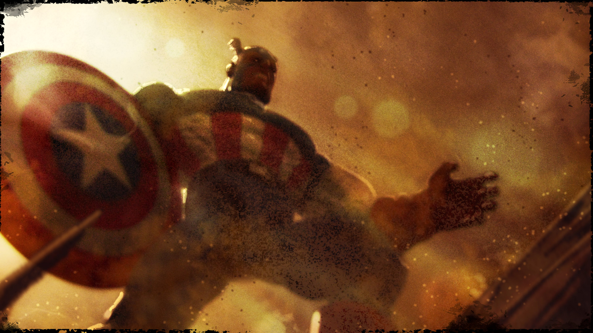 Captain America Attacks Wallpapers