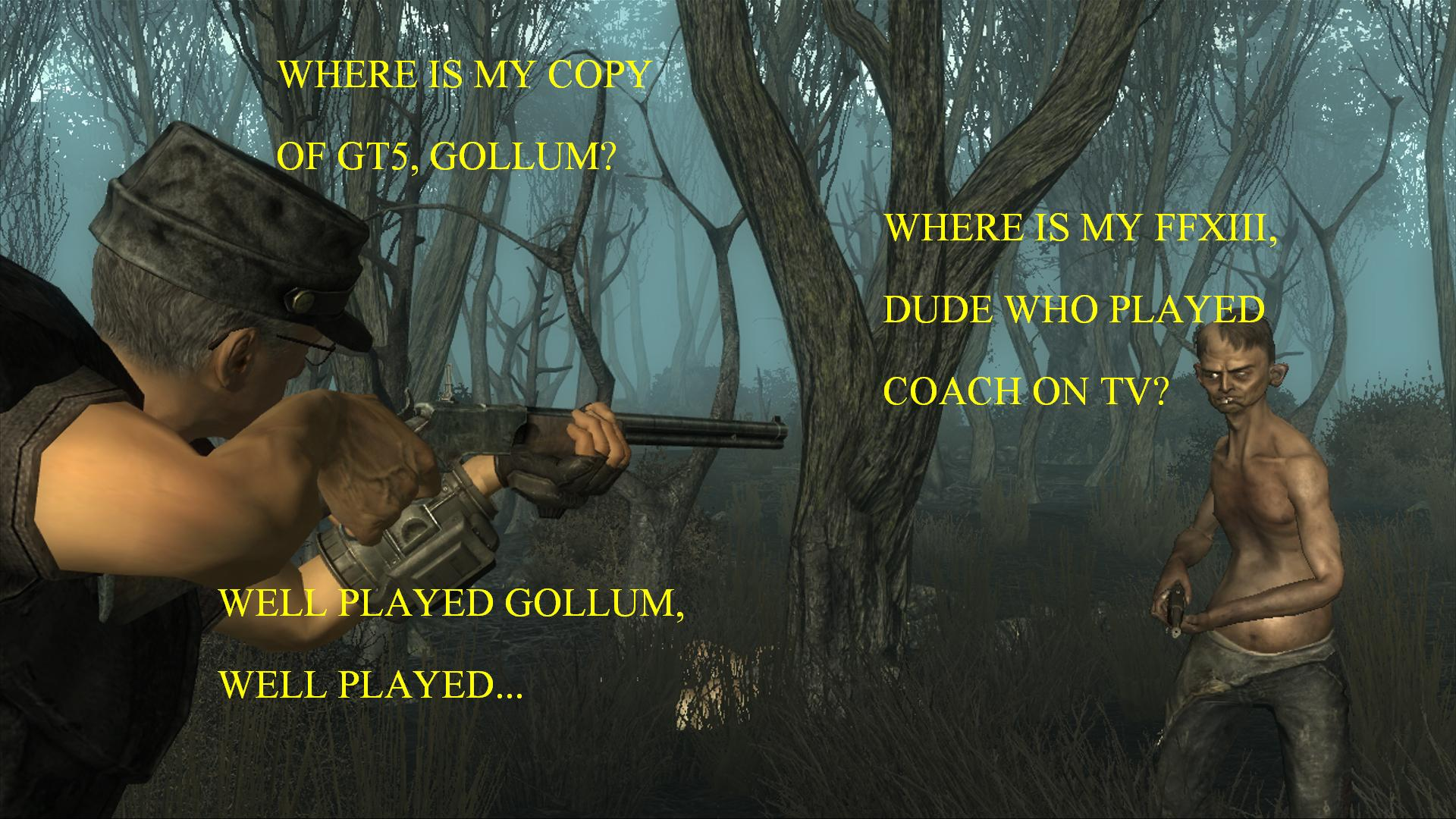 Coach vs. Gollum Wallpapers
