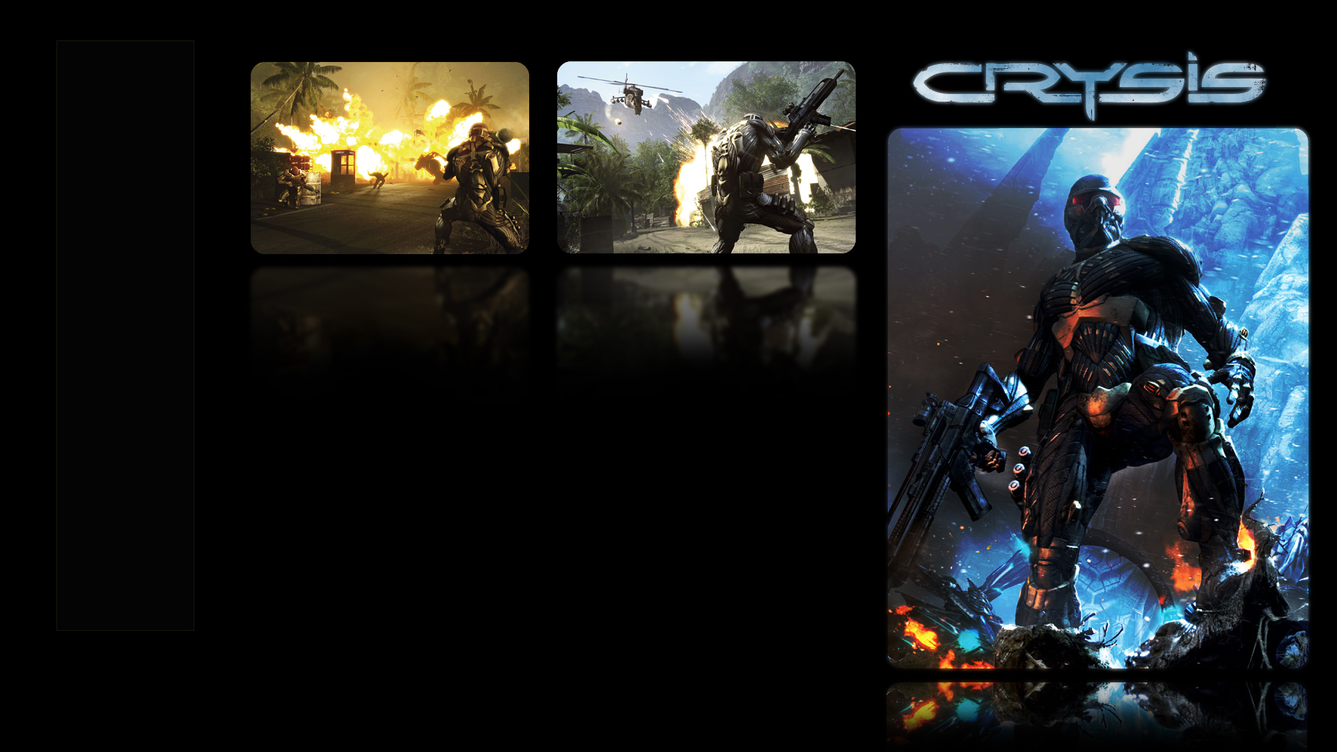 Crysis w/Black Background Wallpapers