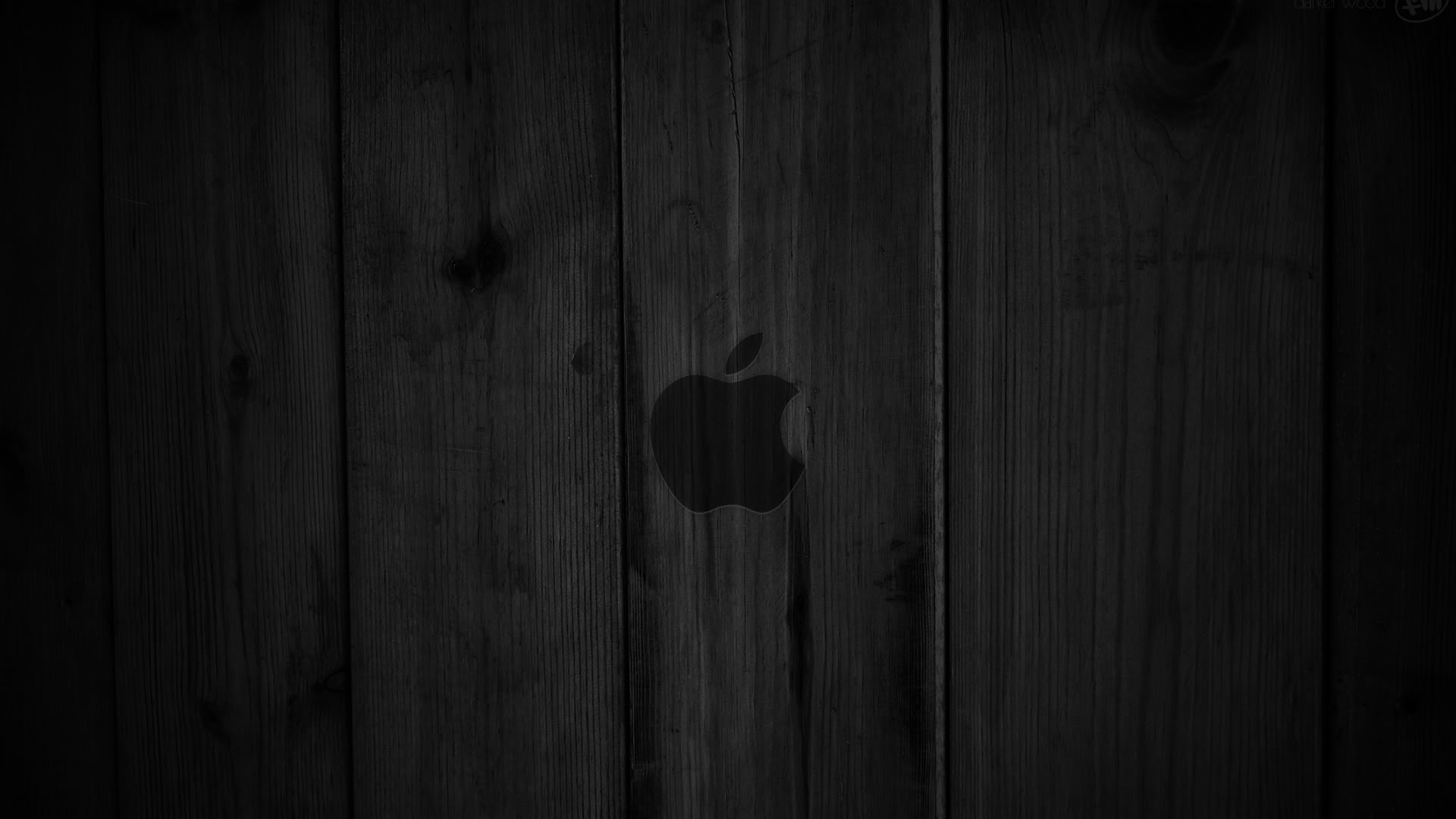 Dark Wood with Mac Apple Wallpapers