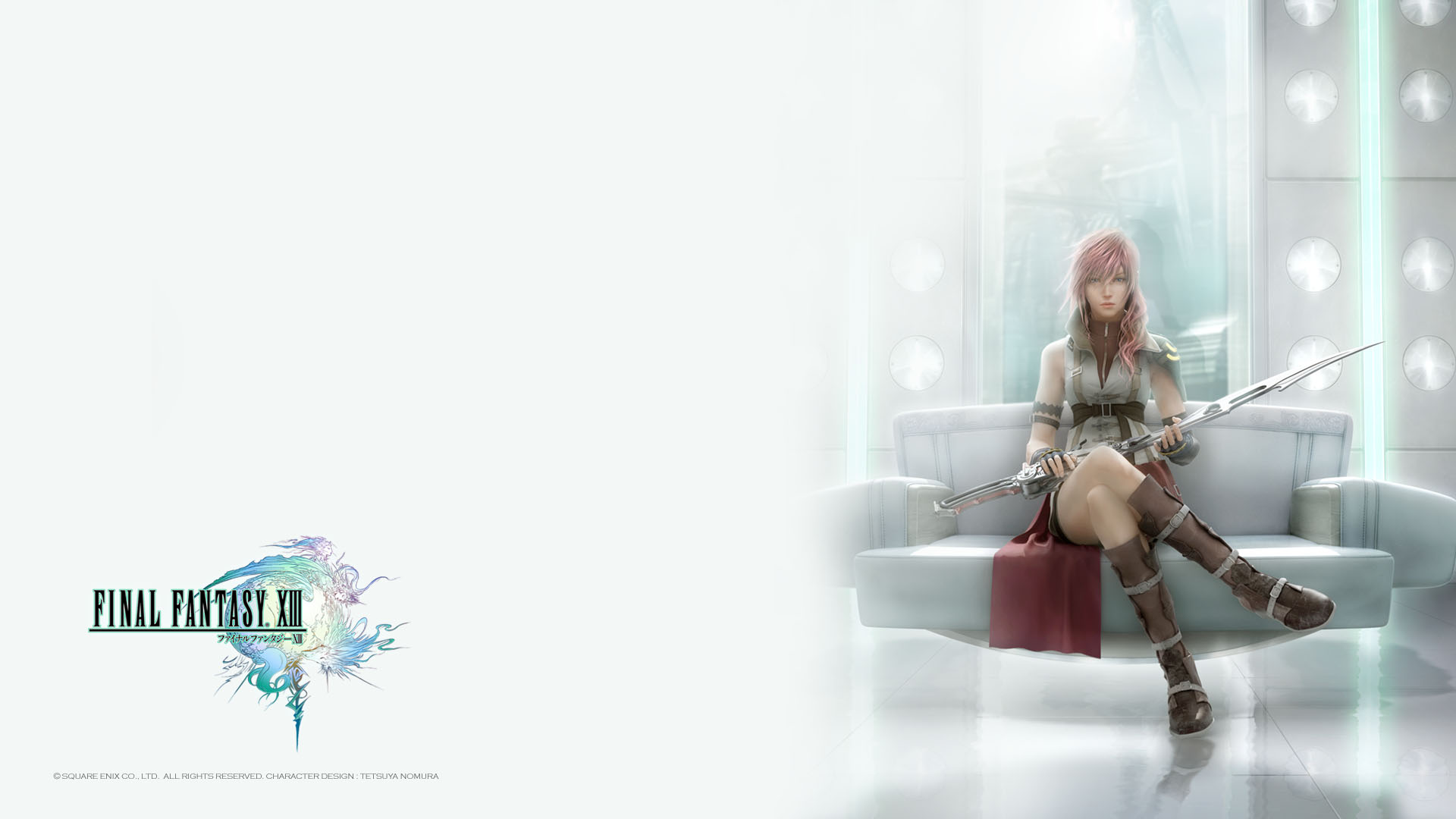 FFXIII - Lightning on her Throne Wallpapers