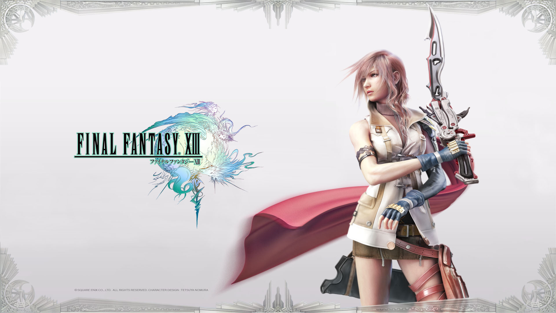 FFXIII - Lightning Posing Wallpapers