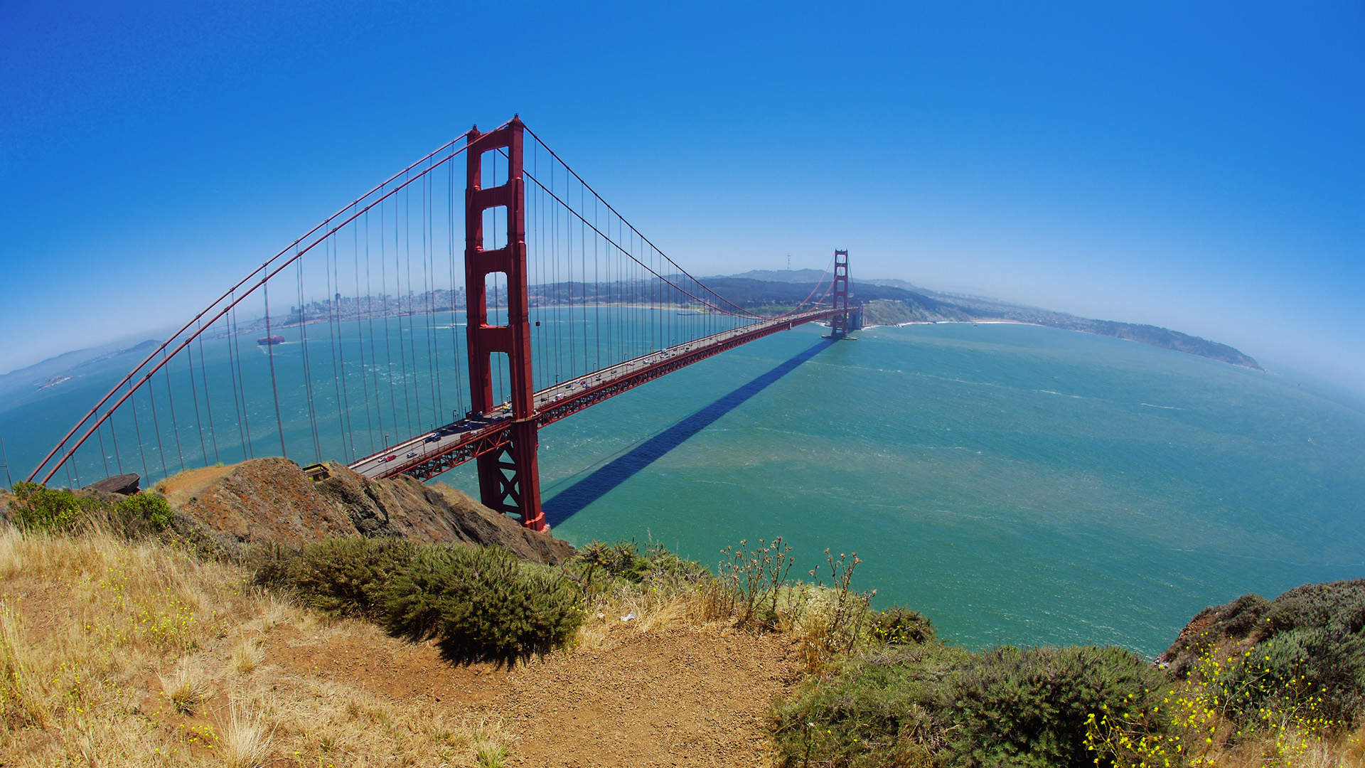 Golden Gate - Hilltop View Wallpapers