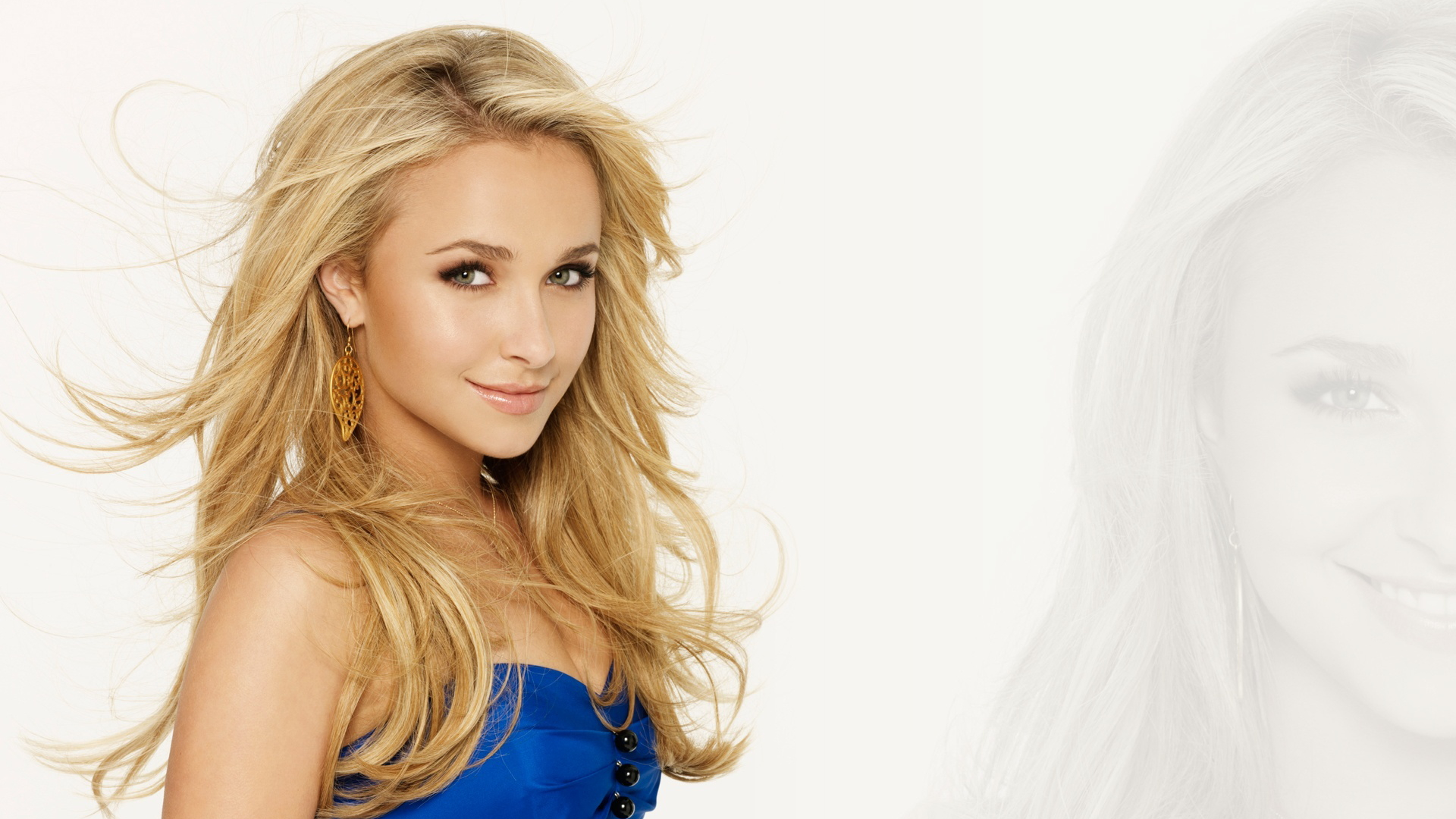 Hayden Panettiere - Pretty in Blue Wallpapers