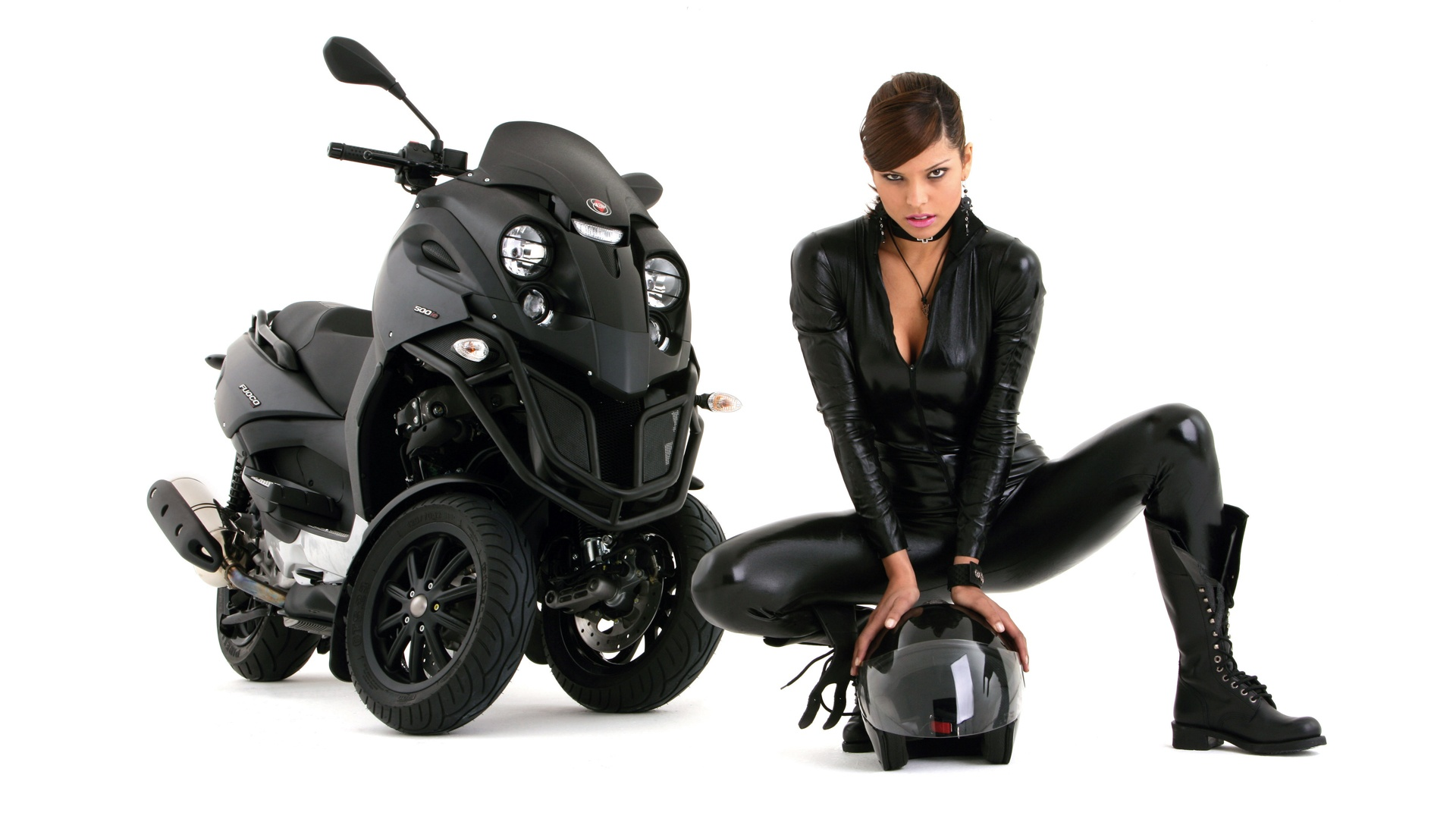 Hot Girl, Hot Bike Wallpapers