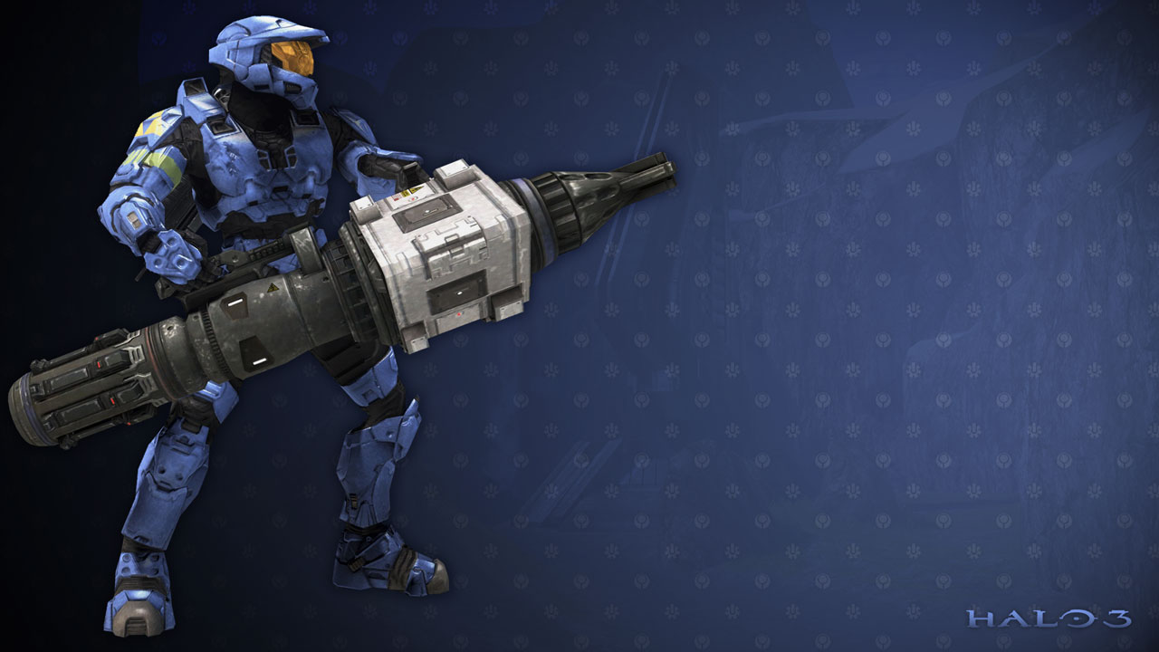 Master Chief Has A Big Gun Wallpapers