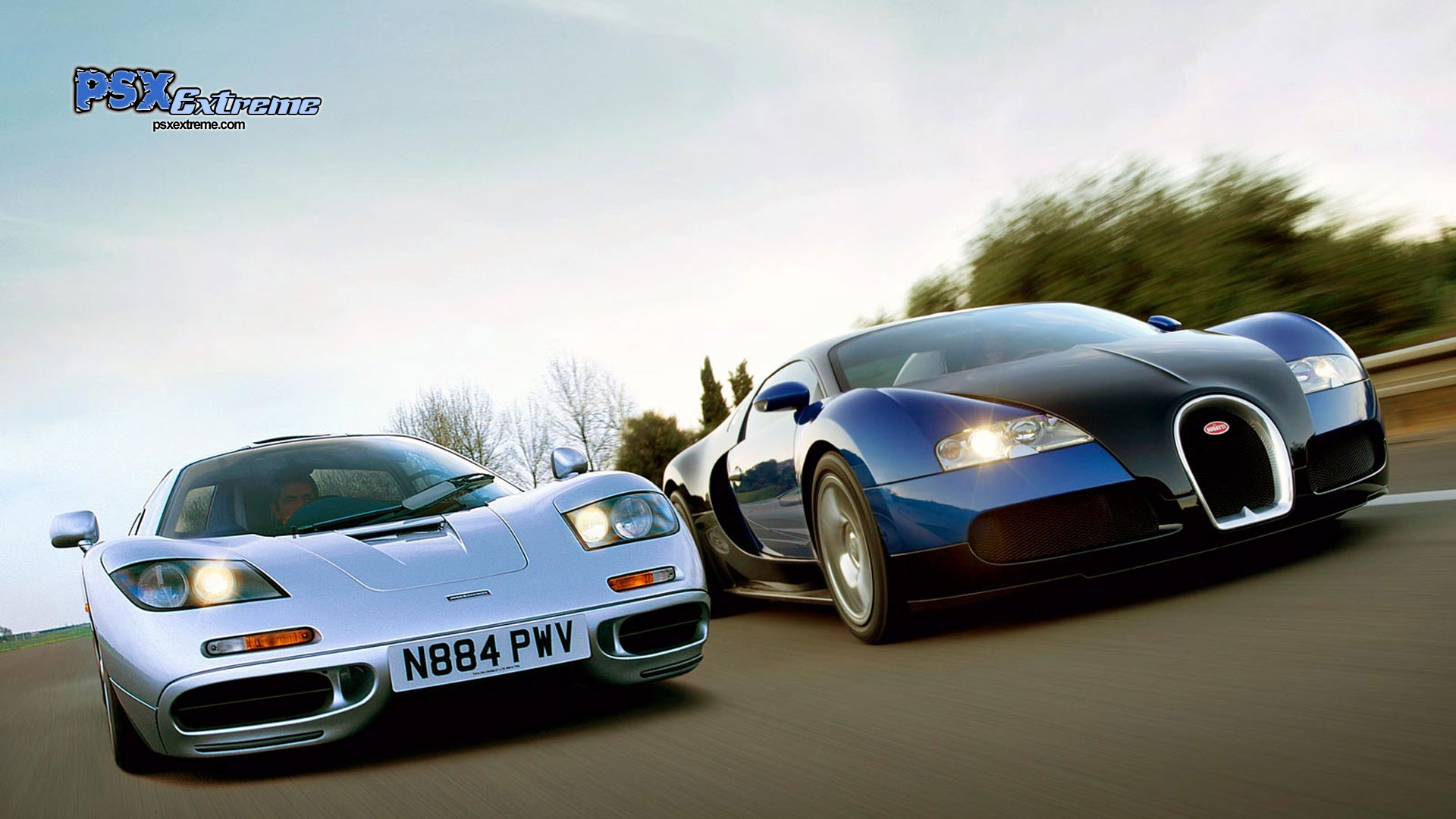 Mclaren F1 VS Veyron Wallpapers