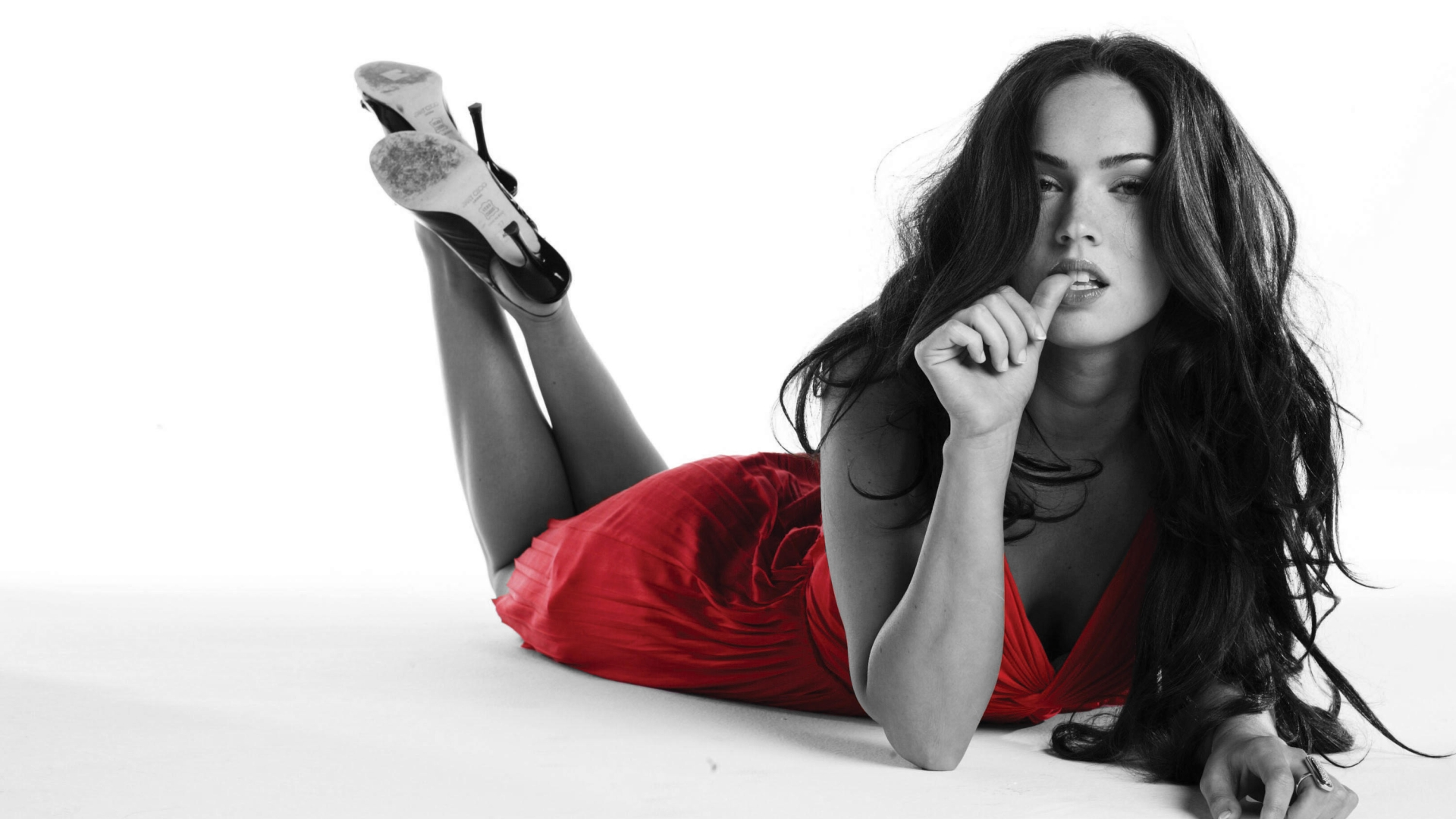 Megan Fox - The Red Dress Wallpapers