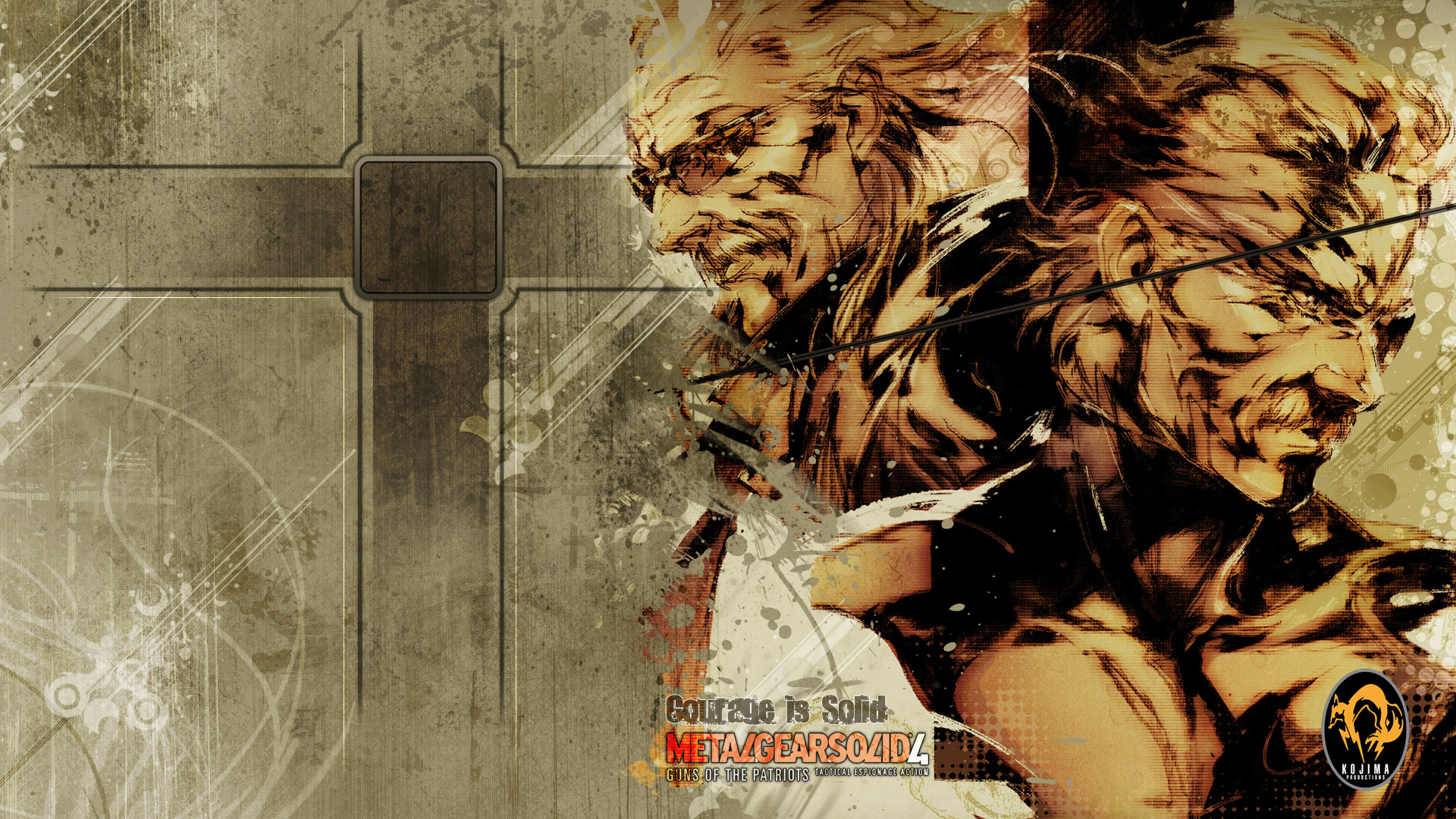 Metal Gear Solid Wallpaper 1080p MGS4 - Courage is Soli...