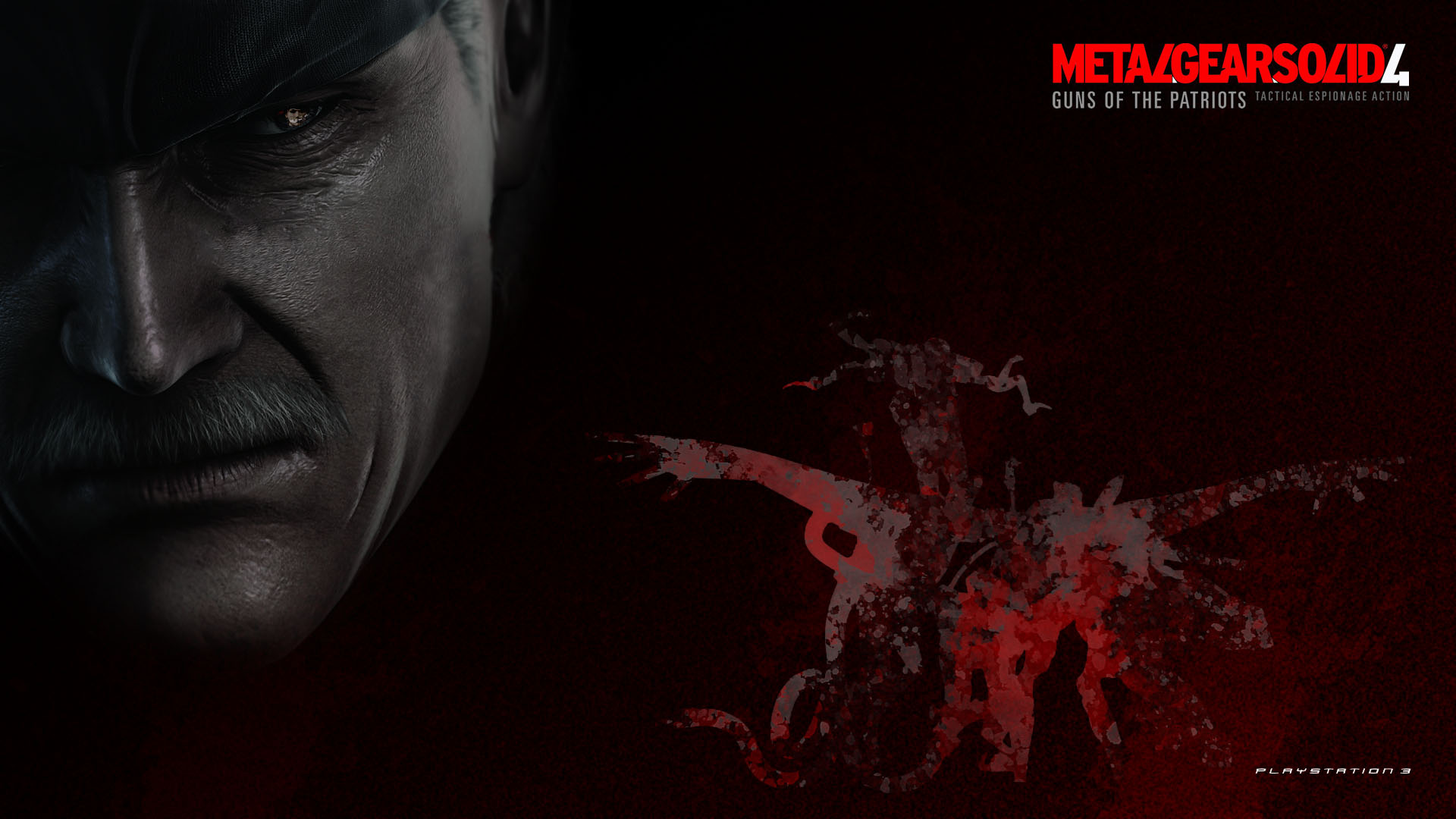 MGS4 - Snake w/Blood Wallpapers