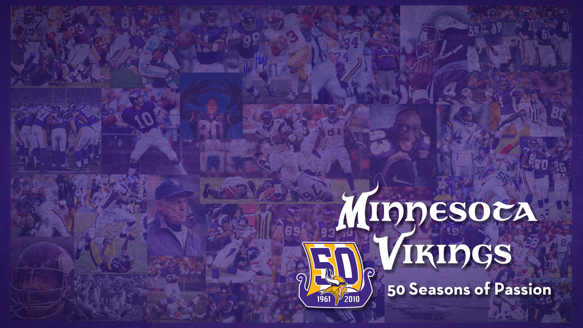 Minnesota Vikings: 50 Seasons of Passion 1.0 Wallpapers