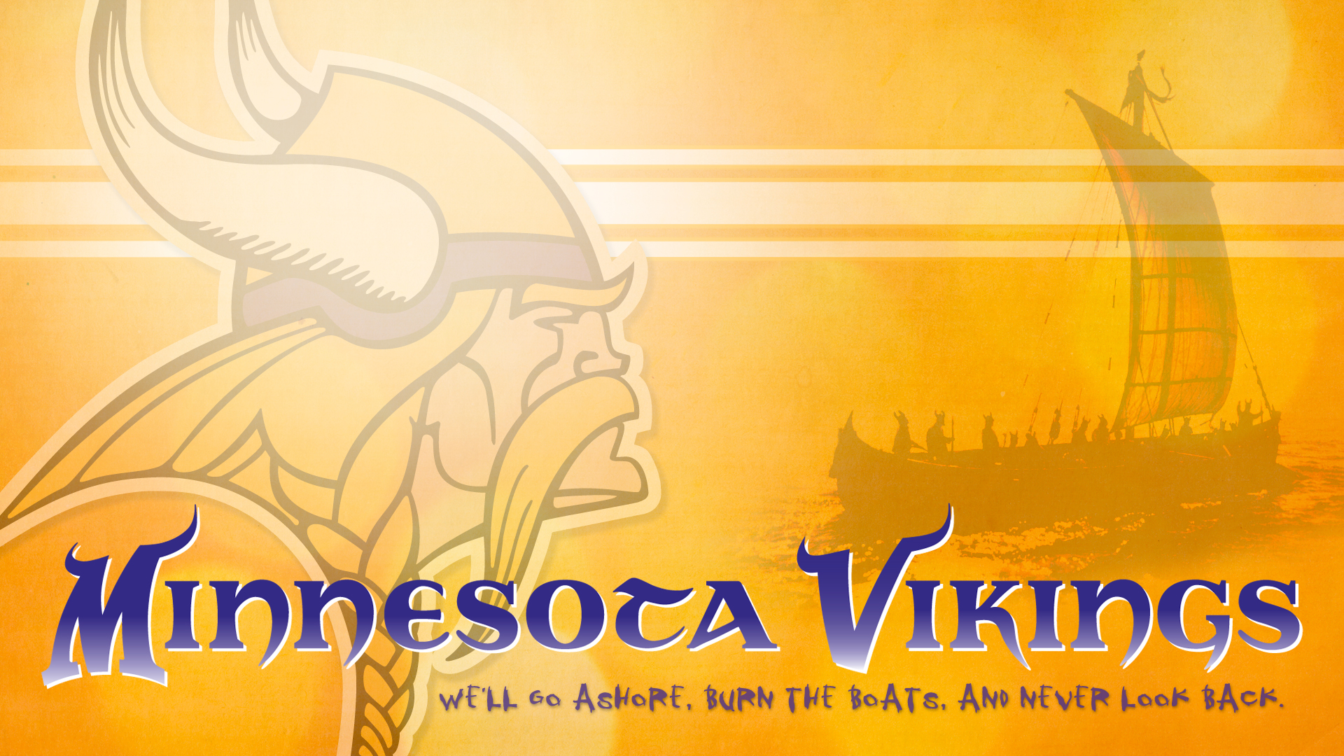 Minnesota Vikings go ashore... Wallpapers
