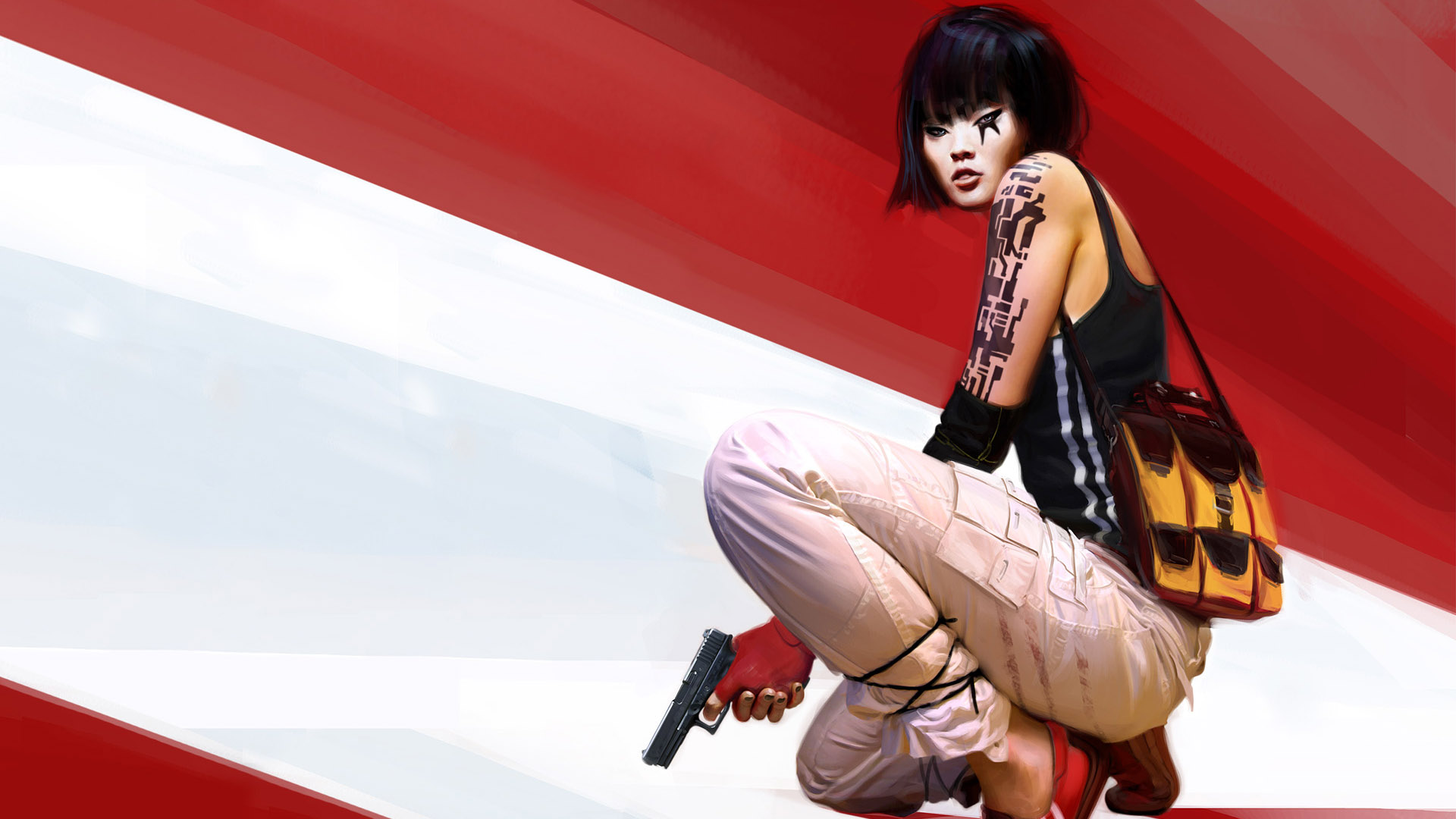 Mirror's Edge - Crouched and Ready Wallpapers