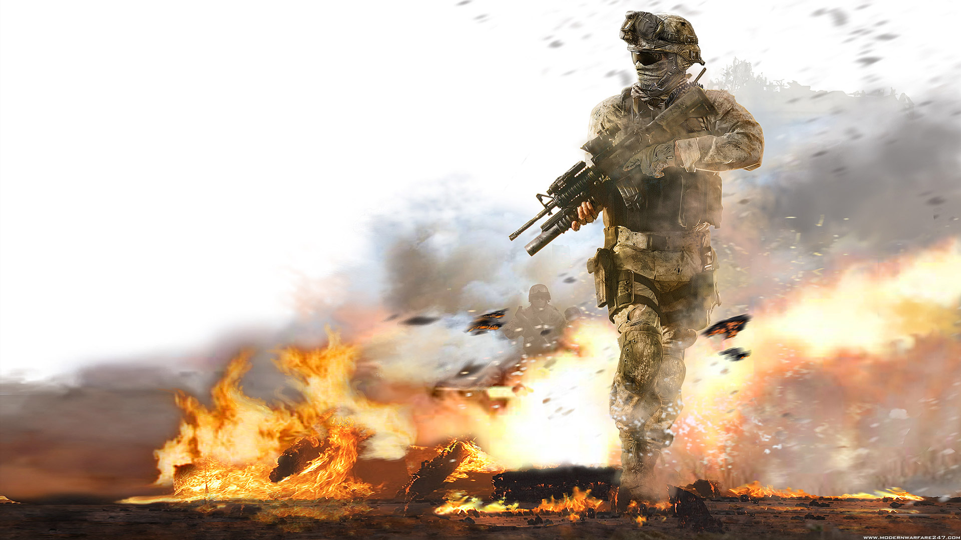 Modern Warfare 2 Fire Wallpapers