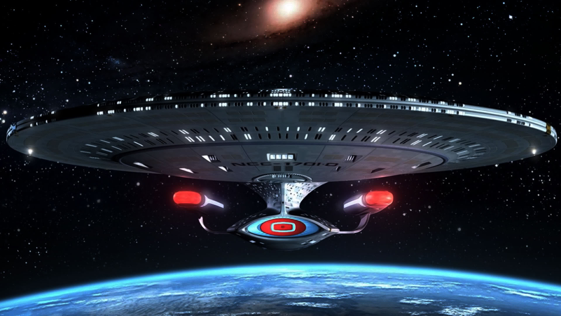 NCC-1701-D In Orbit Wallpapers