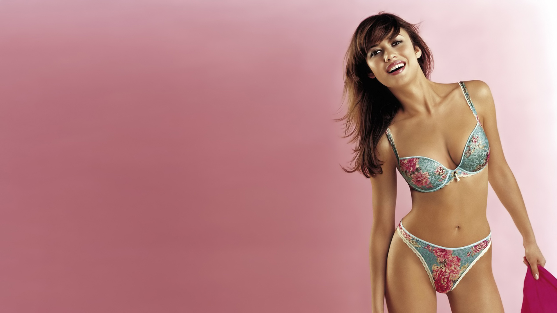 Olga Kurylenko - Flower Lingerie Wallpapers