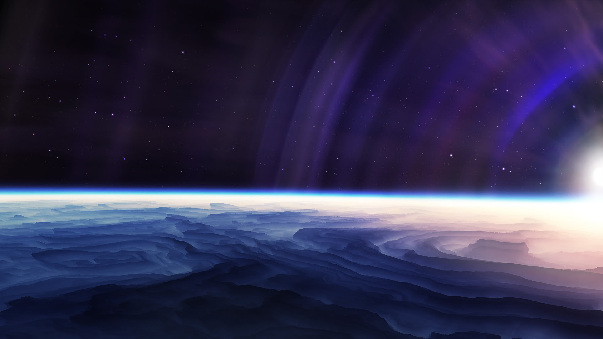 Orbital Sunrise Wallpapers