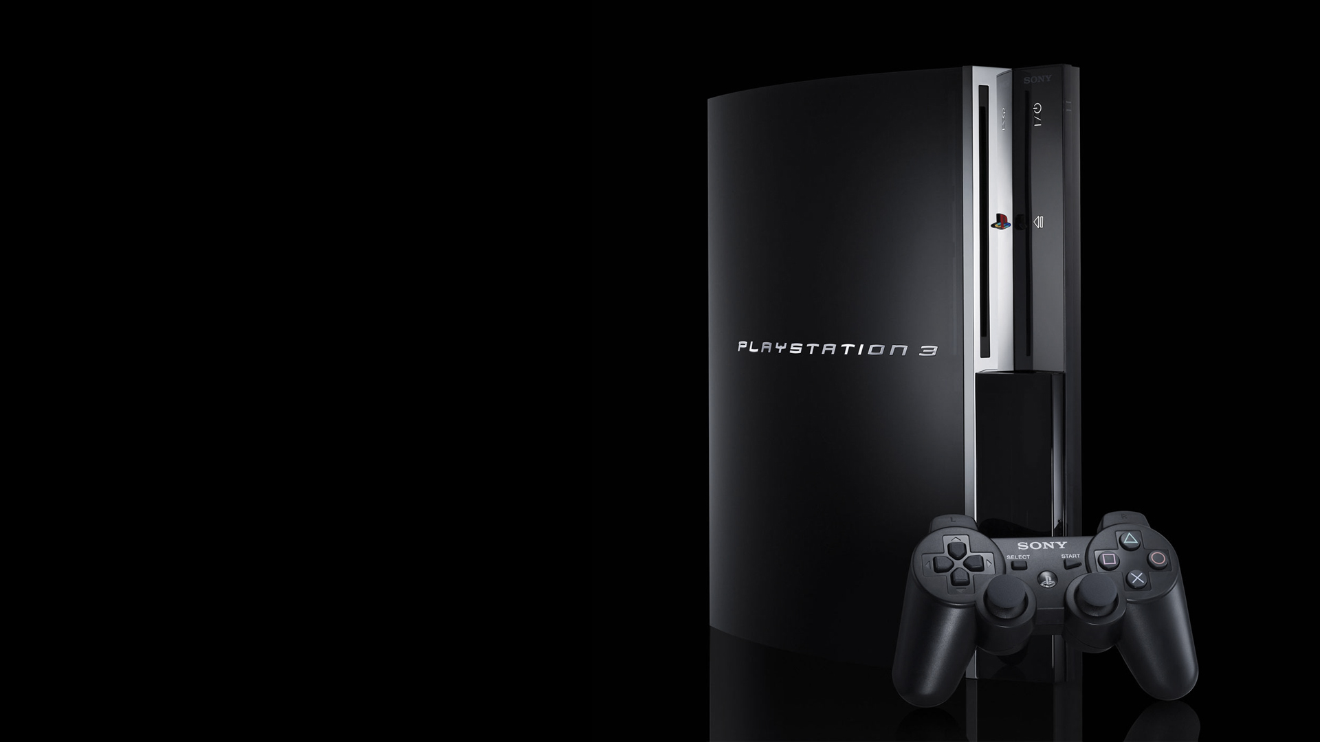 PS3 on Black Background Wallpapers