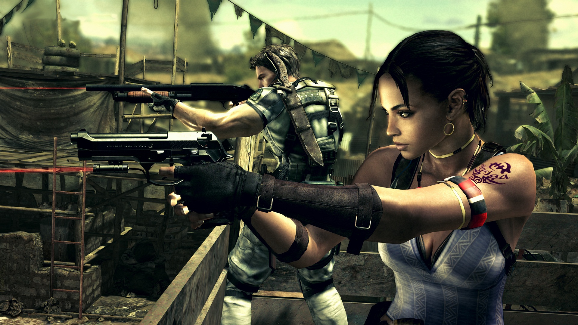 Resident Evil 5 - Dual Death Wallpapers