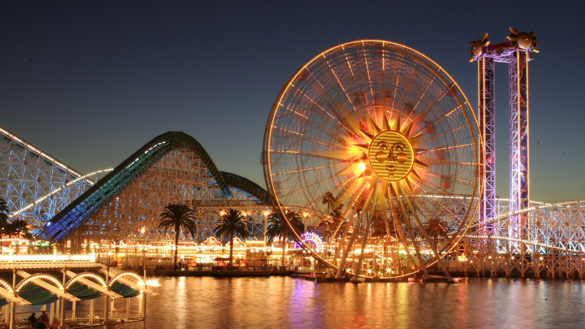 Sunburst Ferris Wheel Wallpapers