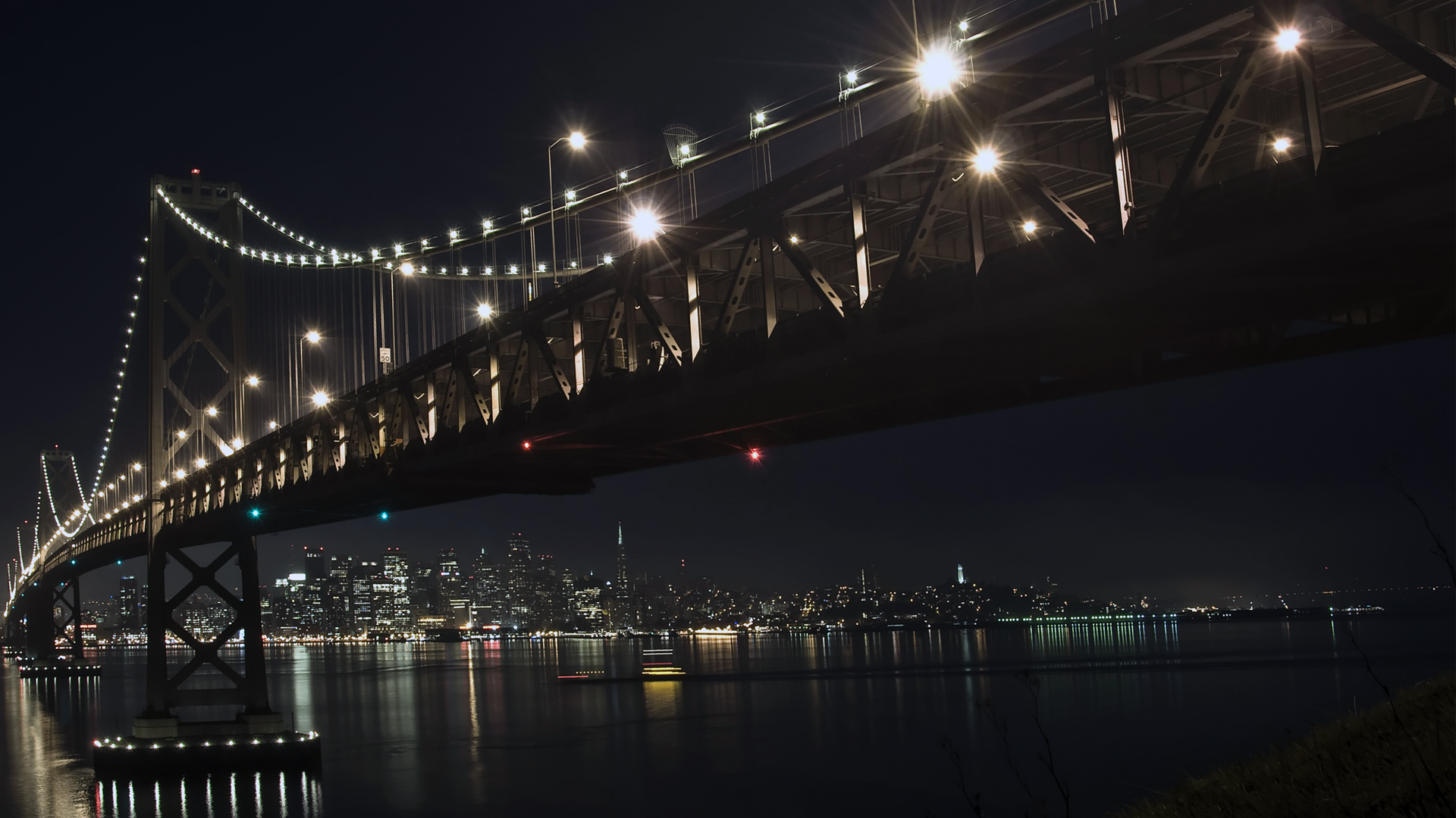 The Bay Bridge at Night Wallpapers