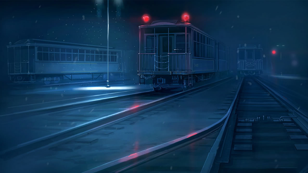 Trains in the Night Wallpapers