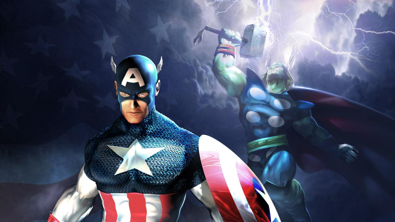 Ultimate Alliance Cap/Thor Wallpapers