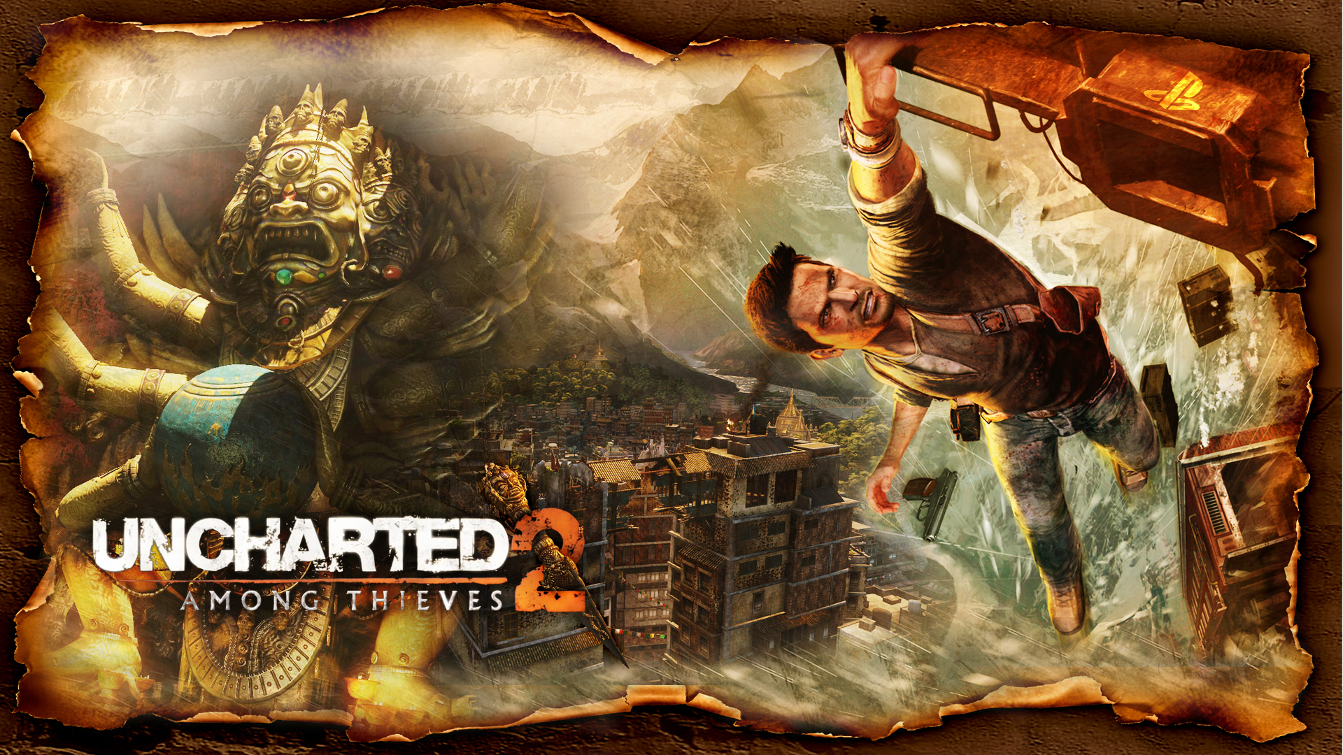 Uncharted 2 - Hanging on for Dear Life Wallpapers