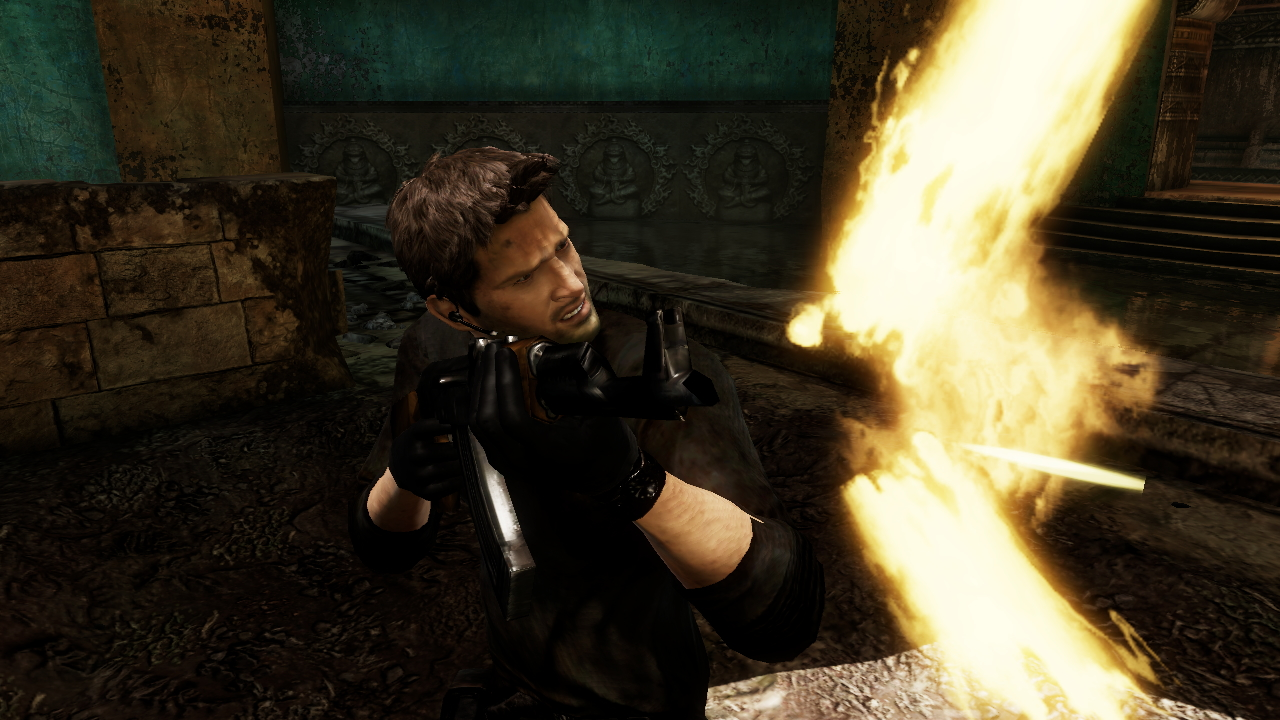 Uncharted 2 - Up Close Firing Wallpapers