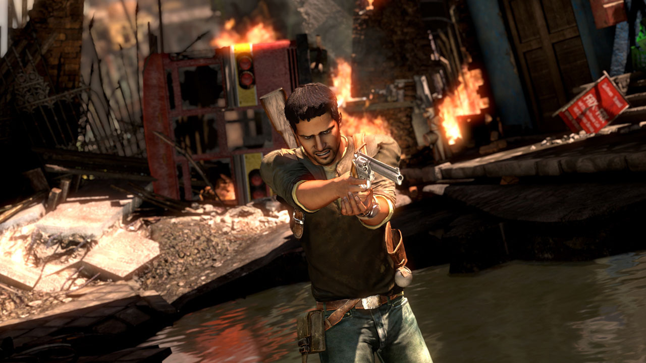 Uncharted 2 Drake's Gun Wallpapers