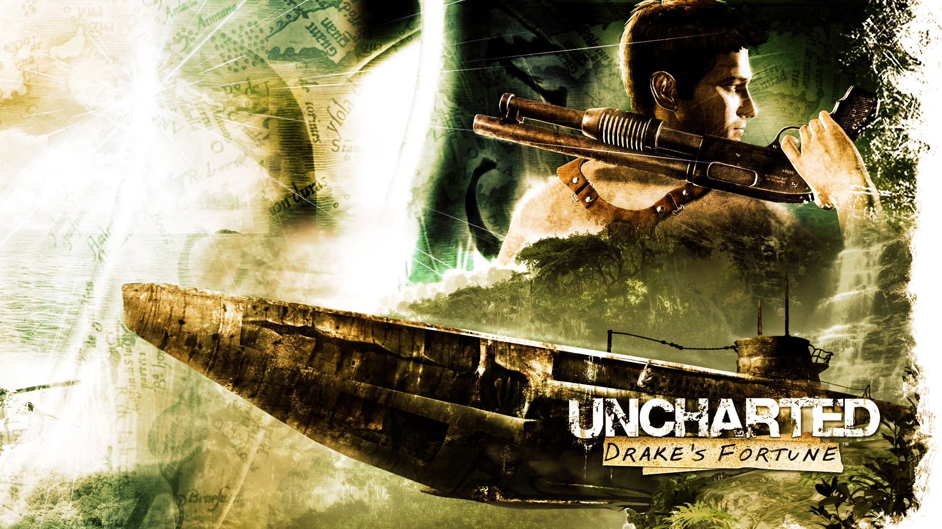 Uncharted - Drake Posing Wallpapers