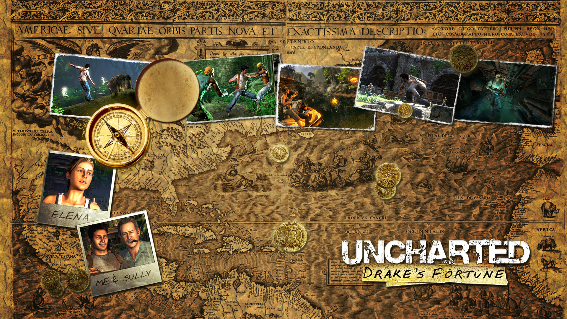Uncharted - Treasure Map Wallpapers