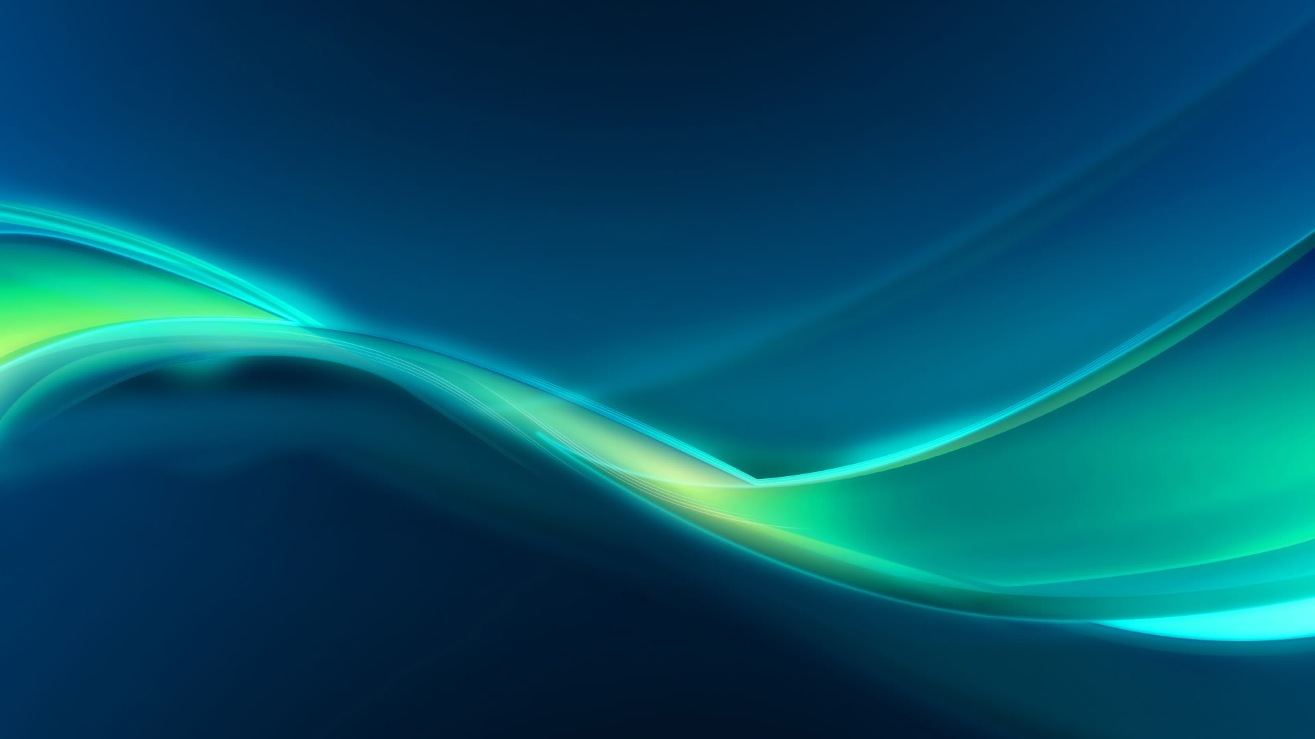 Wavy Green Line Wallpapers