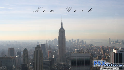 This is a New York Skyline PSP wallpaper. This New York Skyline PSP