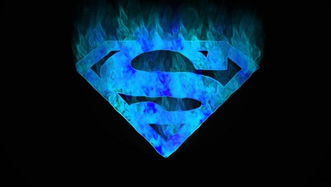 Superman Blue Flame Logo Wallpapers