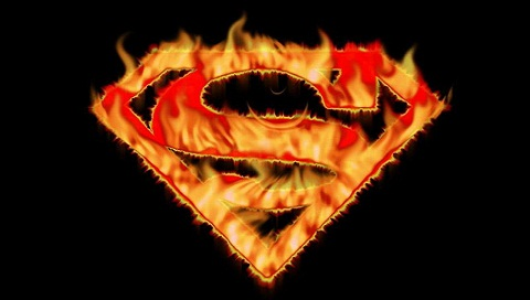 ghetto wallpaper. Superman Flame Logo Wallpapers